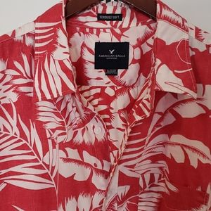 AE Short-Sleeved Seriously Soft Hawaiian Shirt